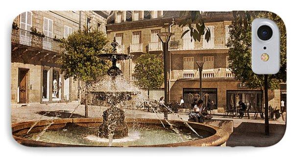 Place Toulzac Fountain - Brive La Gaillarde IPhone Case by Barry O Carroll