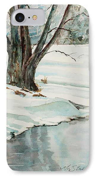 Placid Winter Morning Phone Case by Mary Benke
