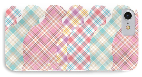 Plaid Cats Phone Case by Peggy Collins