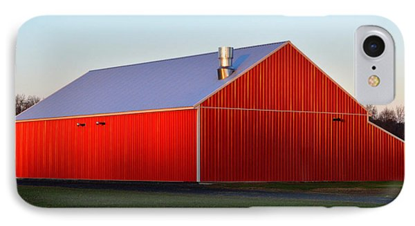 IPhone Case featuring the photograph Plain Jane Red Barn by Bill Swartwout