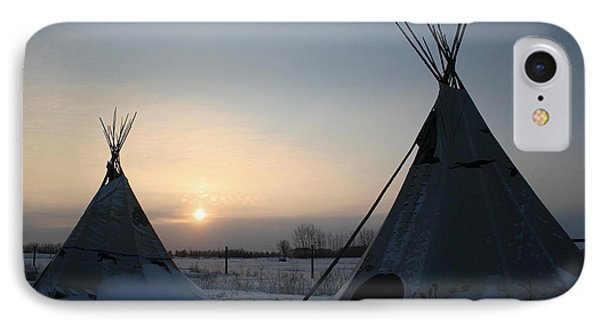 IPhone Case featuring the photograph Plains Cree Tipi by Larry Trupp