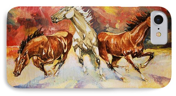 IPhone Case featuring the painting Plains Thunder by Al Brown