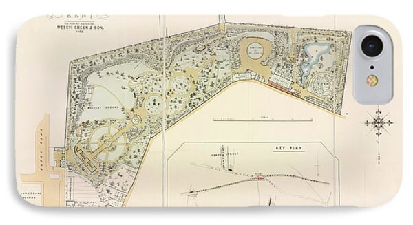 Plan Of Rosherville Gardens IPhone Case by British Library