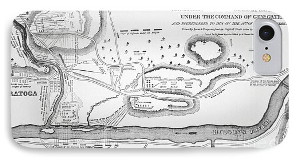 Plan Of The Battle Of Saratoga October 1777 Phone Case by American School