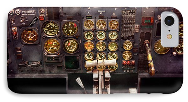 Plane - Cockpit - Boeing 727 - The Controls Are Set IPhone Case by Mike Savad
