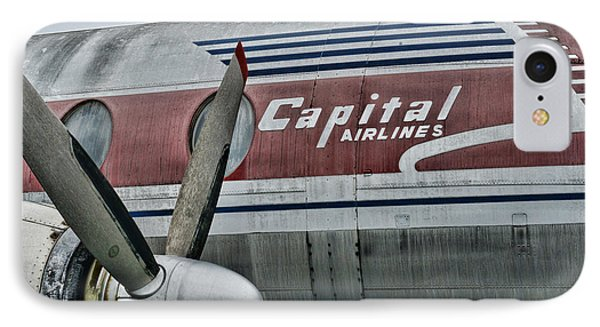 Plane Vintage Capital Airlines IPhone Case by Paul Ward