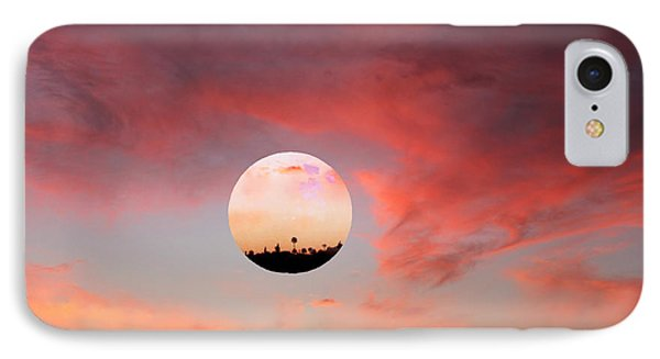 Planet And Sunset IPhone Case by Augusta Stylianou