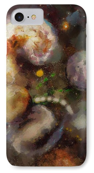 IPhone Case featuring the painting Planet Explosion by Wayne Pascall