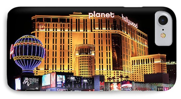Planet Hollywood At Night Phone Case by John Rizzuto