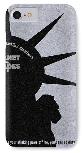 Planet Of The Apes IPhone Case by Ayse Deniz