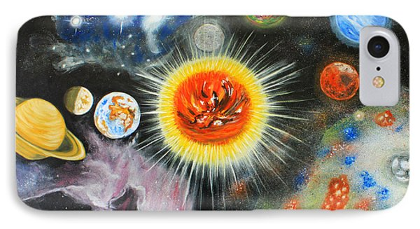 Planets And Nebulae In A Day Phone Case by Augusta Stylianou