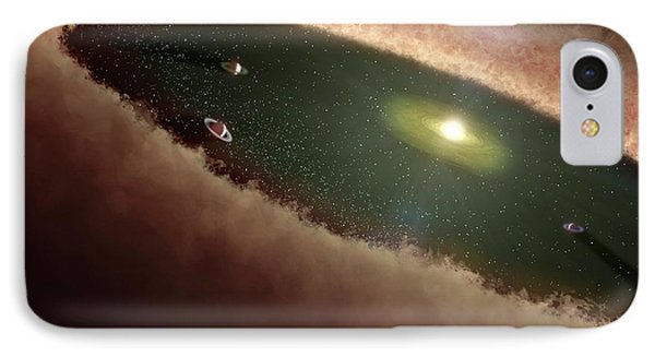 Planets Forming Around A Star IPhone Case by Nasa/jpl-caltech/t. Pyle (ssc)