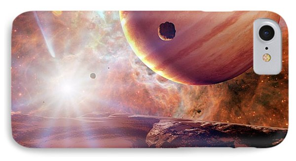 Planets In Ngc 2440 Planetary Nebula IPhone Case by Detlev Van Ravenswaay