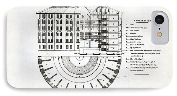 Plans For A Panopticon Prison IPhone Case by British Library