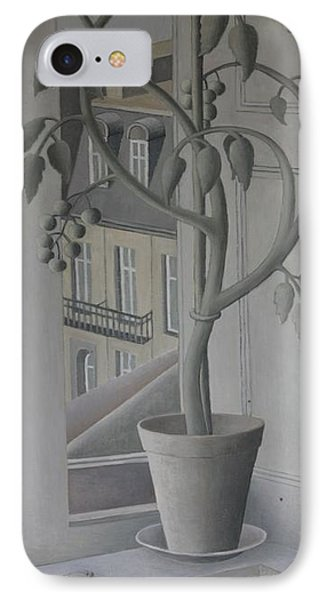 Plant In Window, Oil On Panel IPhone Case