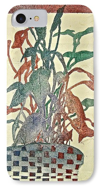 IPhone Case featuring the painting Planted Silhouettes by Carolyn Rosenberger