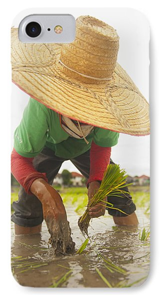 Planting New Ricechiang Mai Thailand Phone Case by Stuart Corlett
