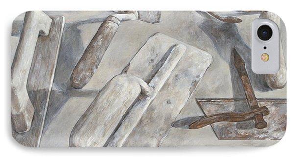 Plasterer Tools 2 Phone Case by Anke Classen