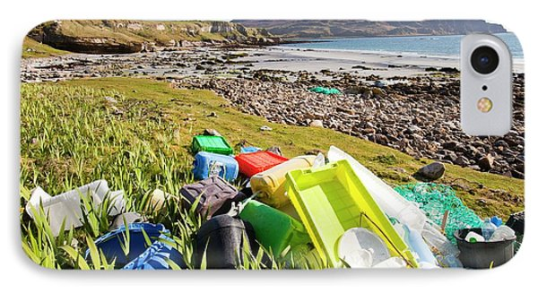 Plastic Rubbish At The Singing Sands IPhone Case by Ashley Cooper