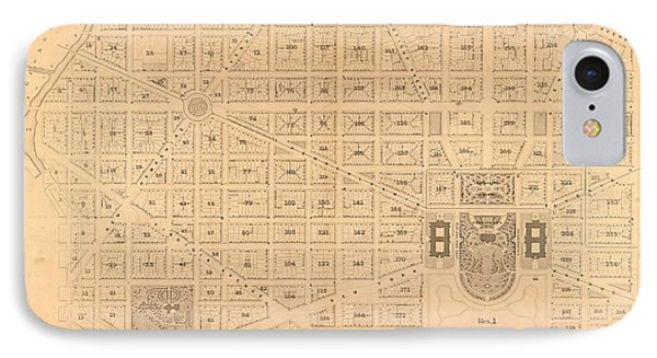 Plat Map White House IPhone Case by Baltzgar