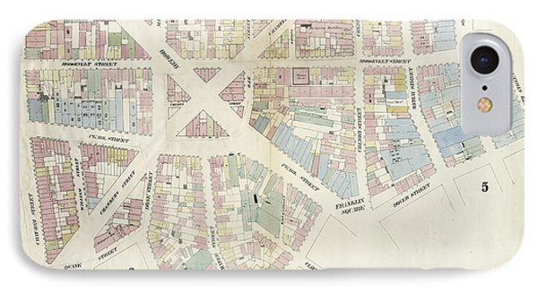 Plate 10 Map Bounded By Chatham Street, James Street, South IPhone Case by Litz Collection