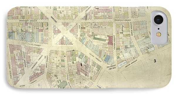 Plate 10 Map Bounded By James Street, South Street, Dover IPhone Case by Litz Collection