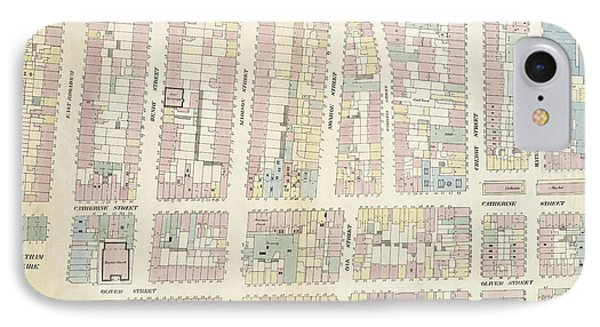 Plate 11 Map Bounded By Chatham Square, Division Street IPhone Case by Litz Collection