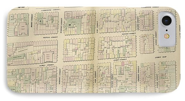Plate 12 Map Bounded By Chatham Street, East Broadway IPhone Case by Litz Collection