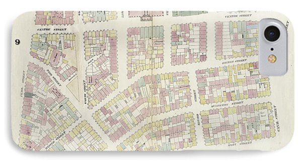 Plate 14 Map Bounded By Canal Street, Mott Street IPhone Case by Litz Collection