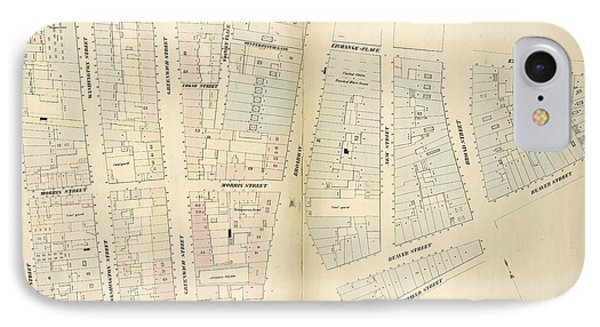 Plate 2 Map Bounded By Rector Street, Broadway, Exchange IPhone Case by Litz Collection