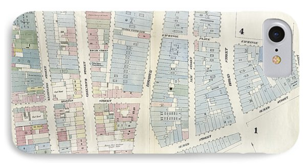 Plate 2 Map Bounded By Rector Street, Broadway, Wall IPhone Case by Litz Collection