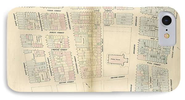 Plate 3 Map Bounded By Liberty Street, Nassau Street IPhone Case by Litz Collection