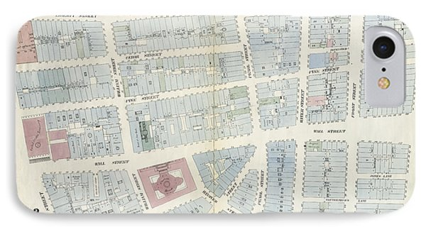 Plate 4 Map Bounded By Maiden Lane, South Street IPhone Case by Litz Collection