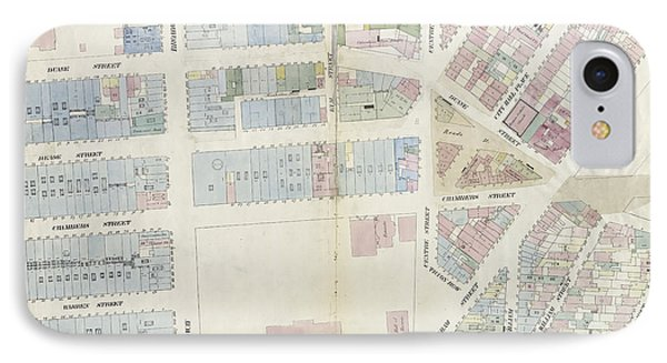 Plate 9 Map Bounded By Pearl Street, Chatham Street, Duane IPhone Case by Litz Collection