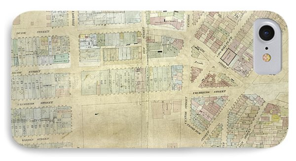 Plate 9 Map Bounded By Pearl Street, Chatham Street IPhone Case by Litz Collection