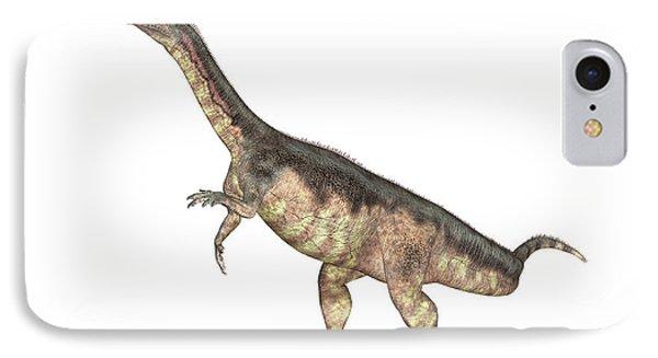 Plateosaurus Dinosaur IPhone Case by Friedrich Saurer