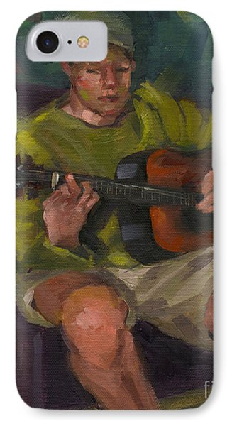 IPhone Case featuring the painting Play A Song For Me by Nancy  Parsons