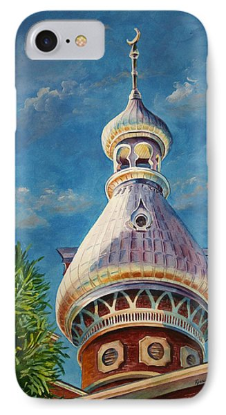 Play Of Light - University Of Tampa IPhone Case by Roxanne Tobaison