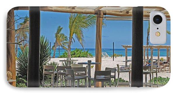 Playa Blanca Restaurant Bar Area Punta Cana Dominican Republic IPhone Case by Heather Kirk