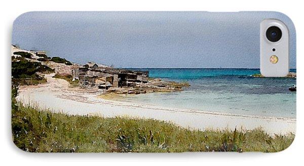 Playa De Illetas Watercolour IPhone Case