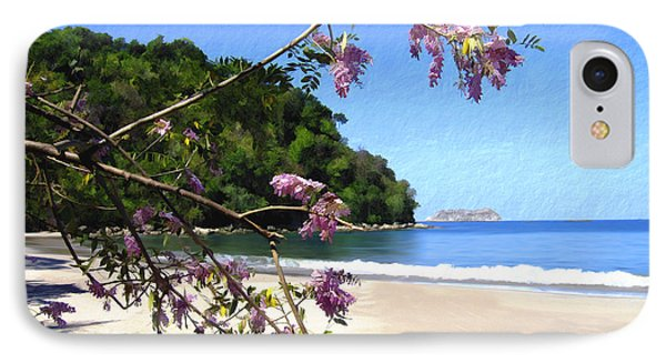Playa Espadillia Sur Manuel Antonio National Park Costa Rica Phone Case by Kurt Van Wagner