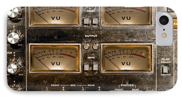 Playback Recording Vu Meters Grunge IPhone Case by Gunter Nezhoda