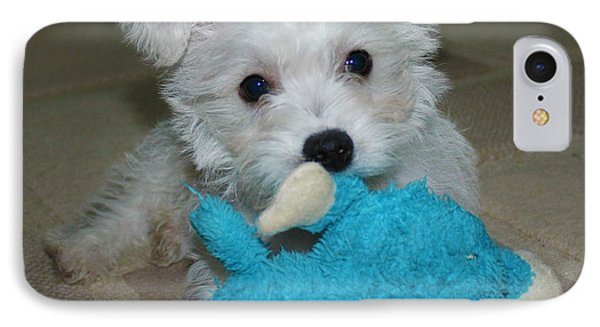 Playful Puppy Phone Case by Terri Waters