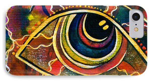 IPhone Case featuring the painting Playful Spirit Eye by Deborha Kerr