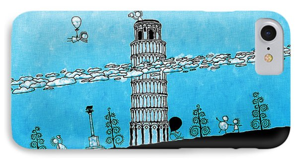Playful Tower Of Pisa IPhone Case by Gianfranco Weiss