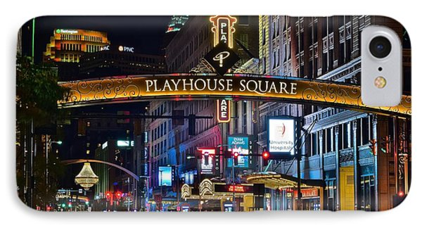 Lebron James iPhone 7 Case - Playhouse Square by Frozen in Time Fine Art Photography