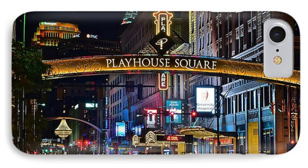 Playhouse Square IPhone Case by Frozen in Time Fine Art Photography
