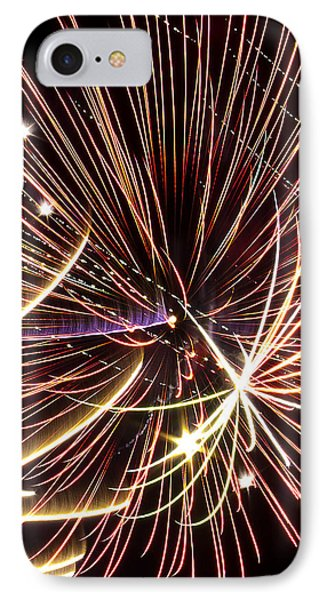 Playin With Fireworks IPhone Case by Michael Nowotny
