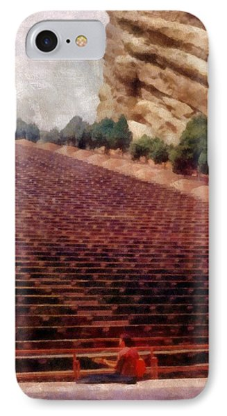 Playing At Red Rocks Phone Case by Michelle Calkins