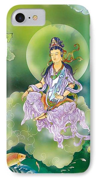 Playing Avalokitesvara   IPhone Case by Lanjee Chee